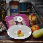 Receta: Ravioli de calabacín relleno de pavo y salsa de tomate