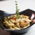 Receta: Ensalada de alubias LA PEDRIZA con targarninas y picarninas CANTIZANO